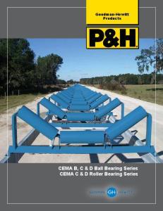 Goodman-Hewitt Products. CEMA B, B,C C &&D D Ball Bearing Series CEMA C & D Roller Bearing Series