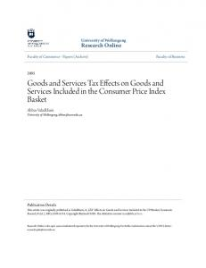 Goods and Services Tax Effects on Goods and Services Included in the Consumer Price Index Basket
