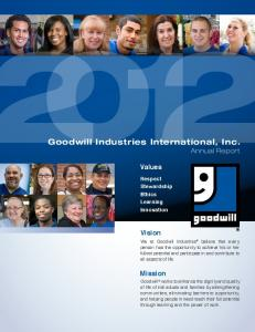 Goodwill Industries International, Inc