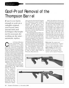 Goof-Proof Removal of the Thompson Barrel