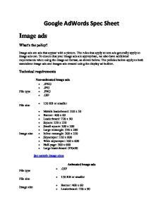 Google AdWords Spec Sheet