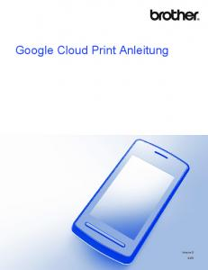 Google Cloud Print Anleitung