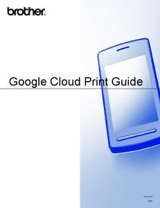 Google Cloud Print Guide