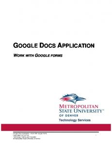 GOOGLE DOCS APPLICATION WORK WITH GOOGLE FORMS