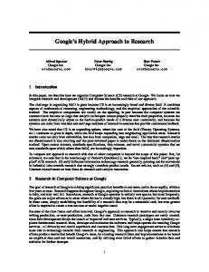 Google s Hybrid Approach to Research
