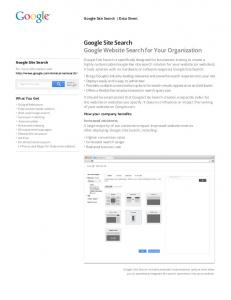 Google Site Search Google Website Search for Your Organization