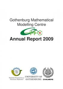Gothenburg Mathematical Modelling Centre. Annual Report 2009