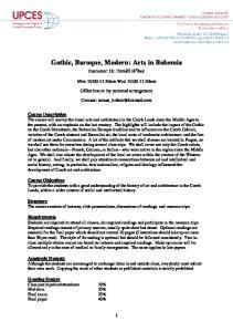Gothic, Baroque, Modern: Arts in Bohemia