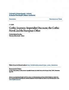 Gothic Journeys: Imperialist Discourse, the Gothic Novel, and the European Other