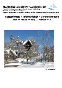 Gottesdienste Informationen Veranstaltungen vom 27. Januar 2018 bis 11. Februar 2018