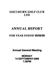GOULBURN GOLF CLUB LTD