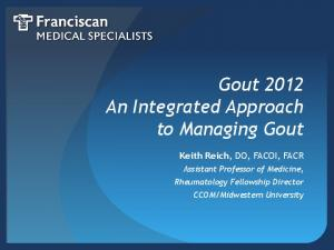 Gout 2012 An Integrated Approach to Managing Gout