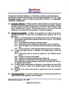 GovDeals Sellers Agreement