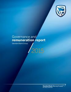 Governance and remuneration report. Standard Bank Group