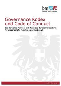 Governance Kodex und Code of Conduct