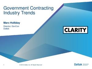 Government Contracting Industry Trends