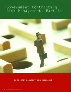 Government Contracting Risk Management, Part 3: