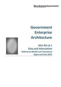 Government Enterprise Architecture