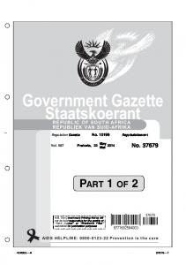 Government Gazette Staatskoerant
