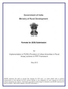 Government of India Ministry of Rural Development