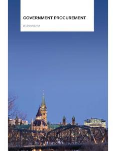 GOVERNMENT PROCUREMENT. By Brenda Swick