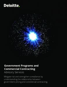 Government Programs and Commercial Contracting Advisory Services