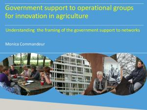 Government support to operational groups for innovation in agriculture