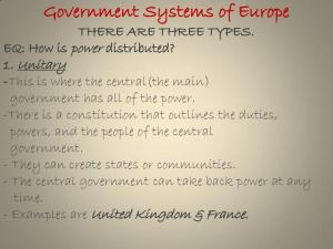 Government Systems of Europe