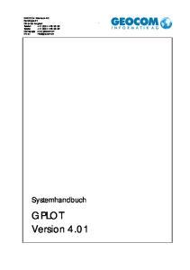 GPLOT Version Systemhandbuch