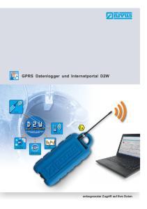GPRS Datenlogger und Internetportal D2W