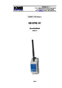 GPRS Modem. Operating Manual. Version 1.0