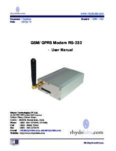 GPRS Modem RS-232