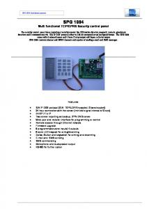 GPRS Security control panel