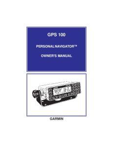 GPS 100 PERSONAL NAVIGATOR TM OWNER'S MANUAL GARMIN