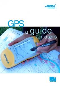 GPS a. guide. for users