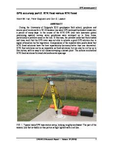 GPS accuracy part 2: RTK float versus RTK fixed