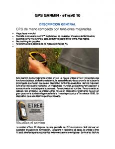 GPS GARMIN - etrex 10