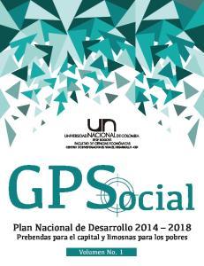 GPS ocial Plan Nacional de Desarrollo Prebendas para el capital y limosnas para los pobres
