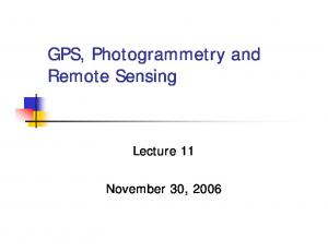 GPS, Photogrammetry and Remote Sensing