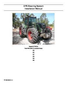 GPS Steering System Installation Manual