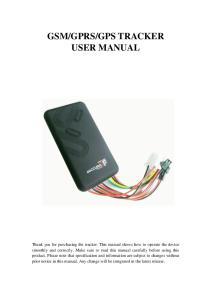 GPS TRACKER USER MANUAL