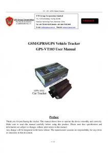 GPS Vehicle Tracker GPS-VT103 User Manual