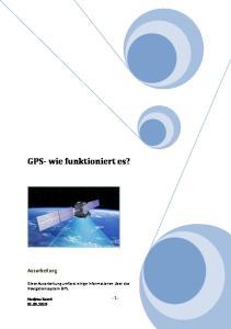 GPS- wie funktioniert es?