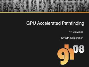 GPU Accelerated Pathfinding