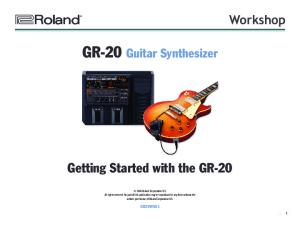 GR-20 Guitar Synthesizer