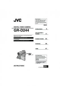 GR-D244 DIGITAL VIDEO CAMERA INSTRUCTIONS ENGLISH GETTING STARTED 6 VIDEO RECORDING & PLAYBACK 17