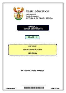 GRAAD 12 NATIONAL SENIOR CERTIFICATE GRADE 12