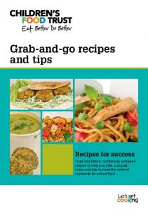 Grab-and-go recipes and tips Recipes for success