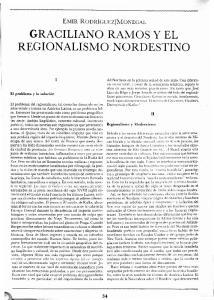 GRACILIANO RAMOS Y EL REGIONALISMO NORDESTINO