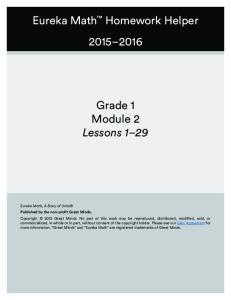 Grade 1 Module 2 Lessons 1 29